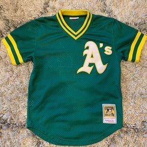 Reggie Jackson Oakland A's Baseball Jersey Green S
